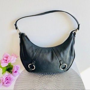 Cristian Italy Hobo Shoulder Bag Pebble Leather